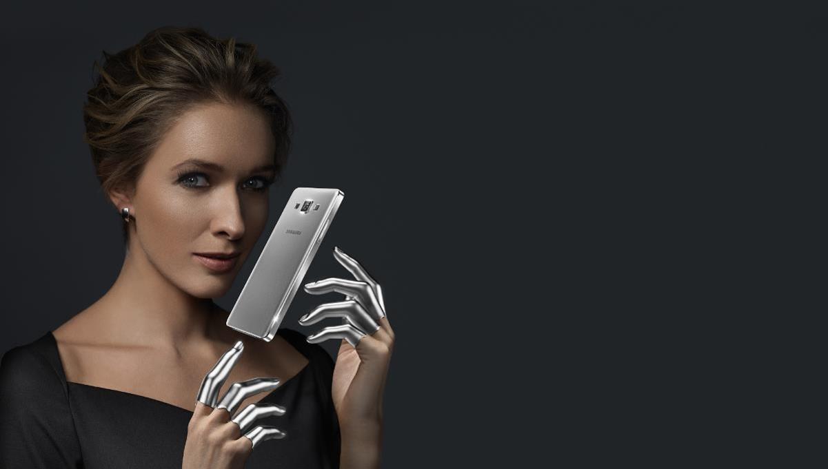 A KV for the Samsung ad campaign featuring Katya Osadcha